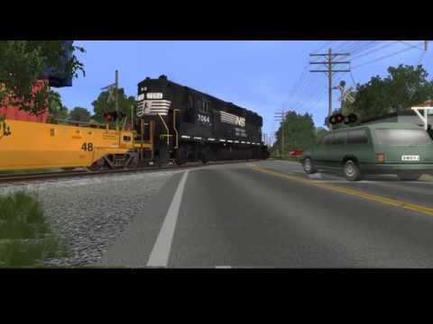 Savannah Port Railway Trainz Project: First of many nightmare crossings
