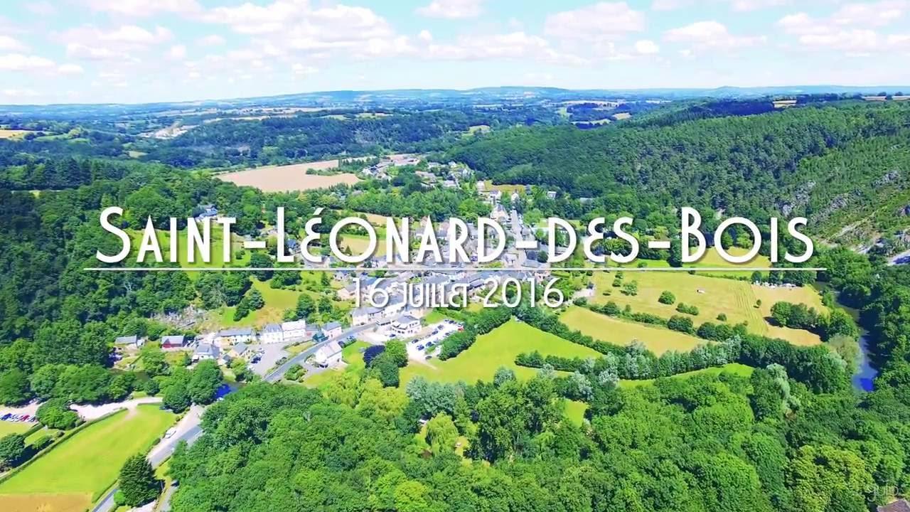 Saint Léonard des Bois, Alpes Mancelles, France Vue du Ciel (Dr u00f4ne, 4K) YouTube # Accrobranche Saint Léonard Des Bois