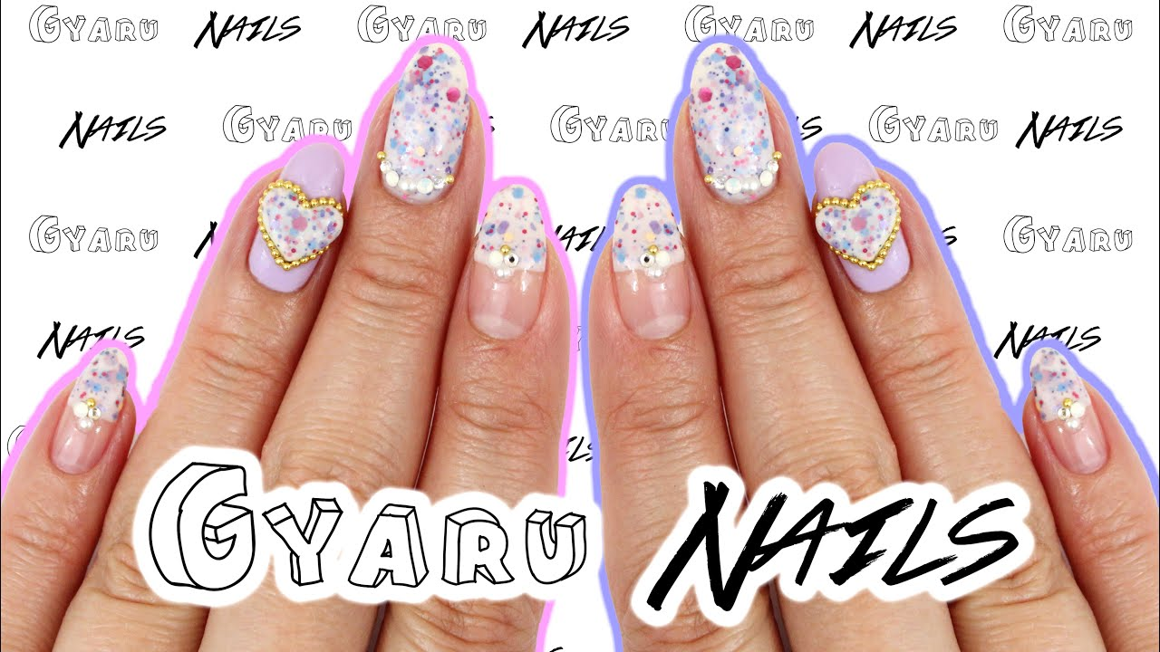 3D Purple Princess Gyaru Nails | Japanese Nail Art ♡ - YouTube