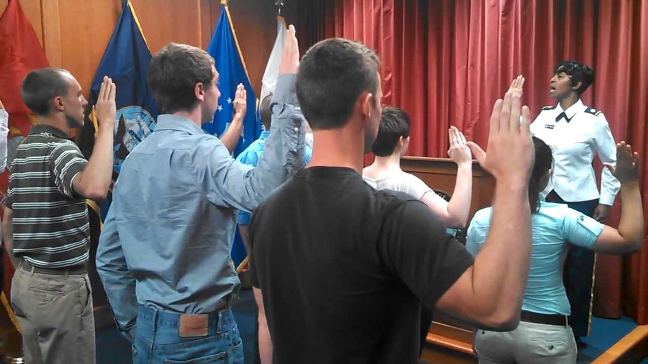 USMC - Swearing In Ceremony at MEPS