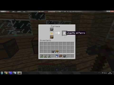 Tutorial Minecraft Creare Torcia,Porta,Vetro,Fornace,Lingotto di ferro ...