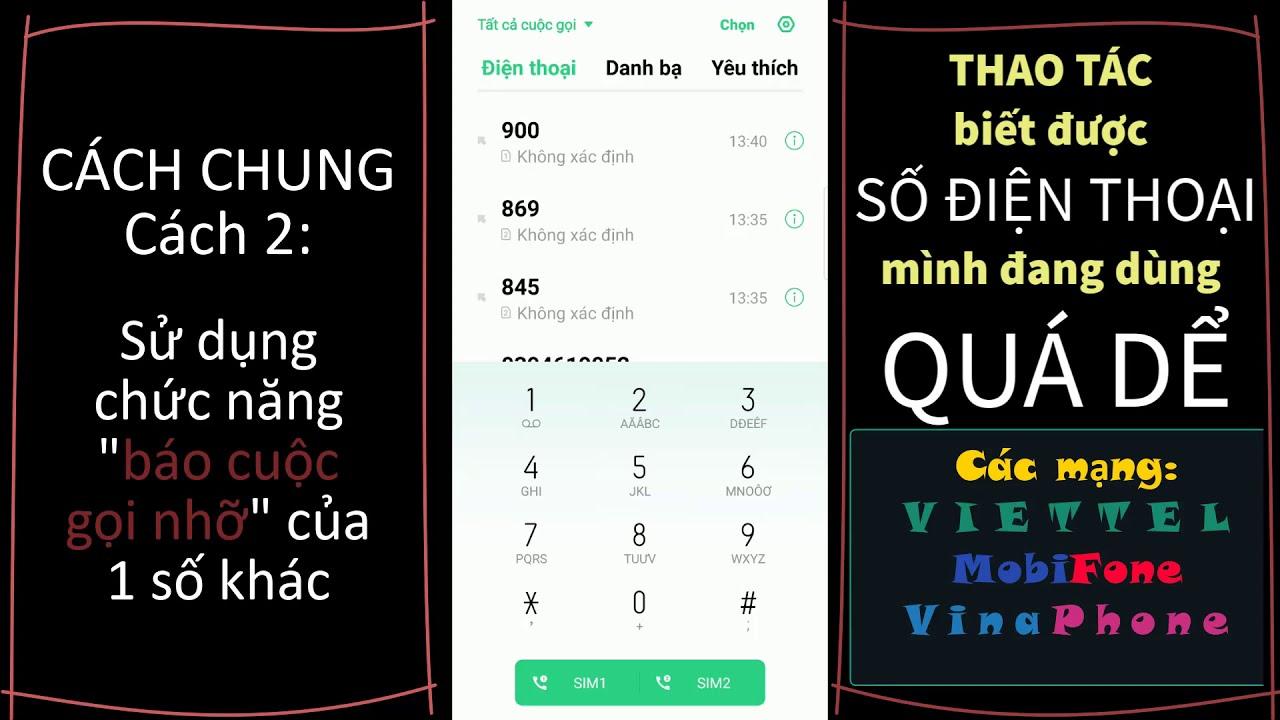 Cách xem số điện thoại của mình MOBI VINA VIETTEL