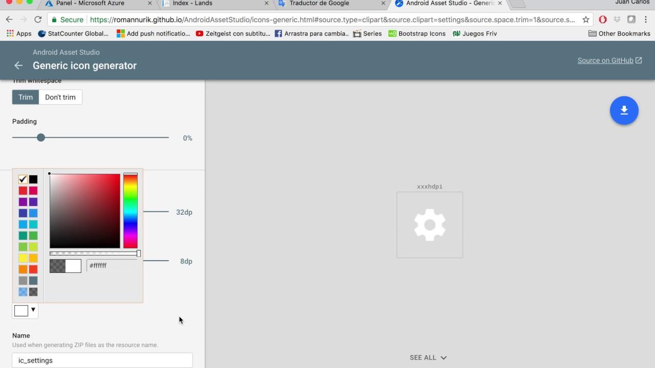 android asset studio generic icon generator