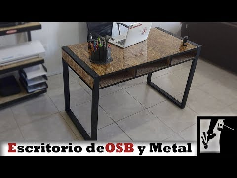 Escritorio de OSB y metal || Estilo Industrial