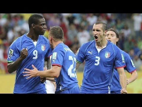 Amazing Goal Mario Balotelli Italy vs Japan Confederations Cup 2013 HD