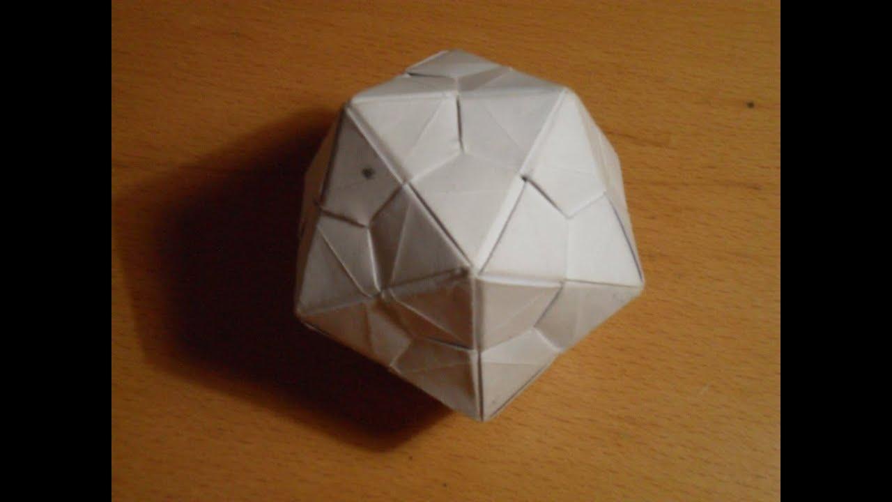 Como hacer un icosaedro origami youtube - Como construir un tejado ...