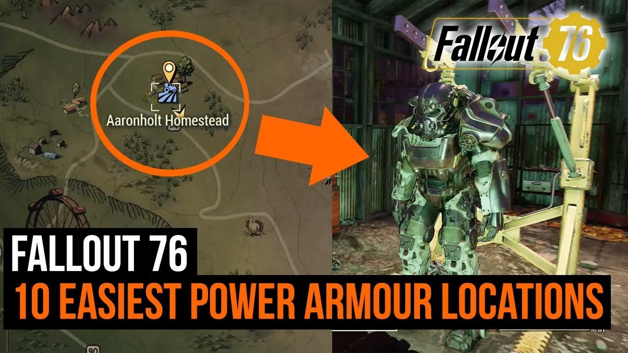 Fallout 76 10 Easiest Power Armor Locations YouTube