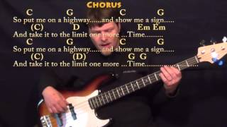 Take It To the Limit (The Eagles) Bass Guitar Cover Lesson in G with Chords/Lyrics