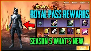 SEASON 5 OUT | New Royal Pass Rewards, Outfits, Emotes, Gun Skins | PUBG Mobile Season 5 Whats New