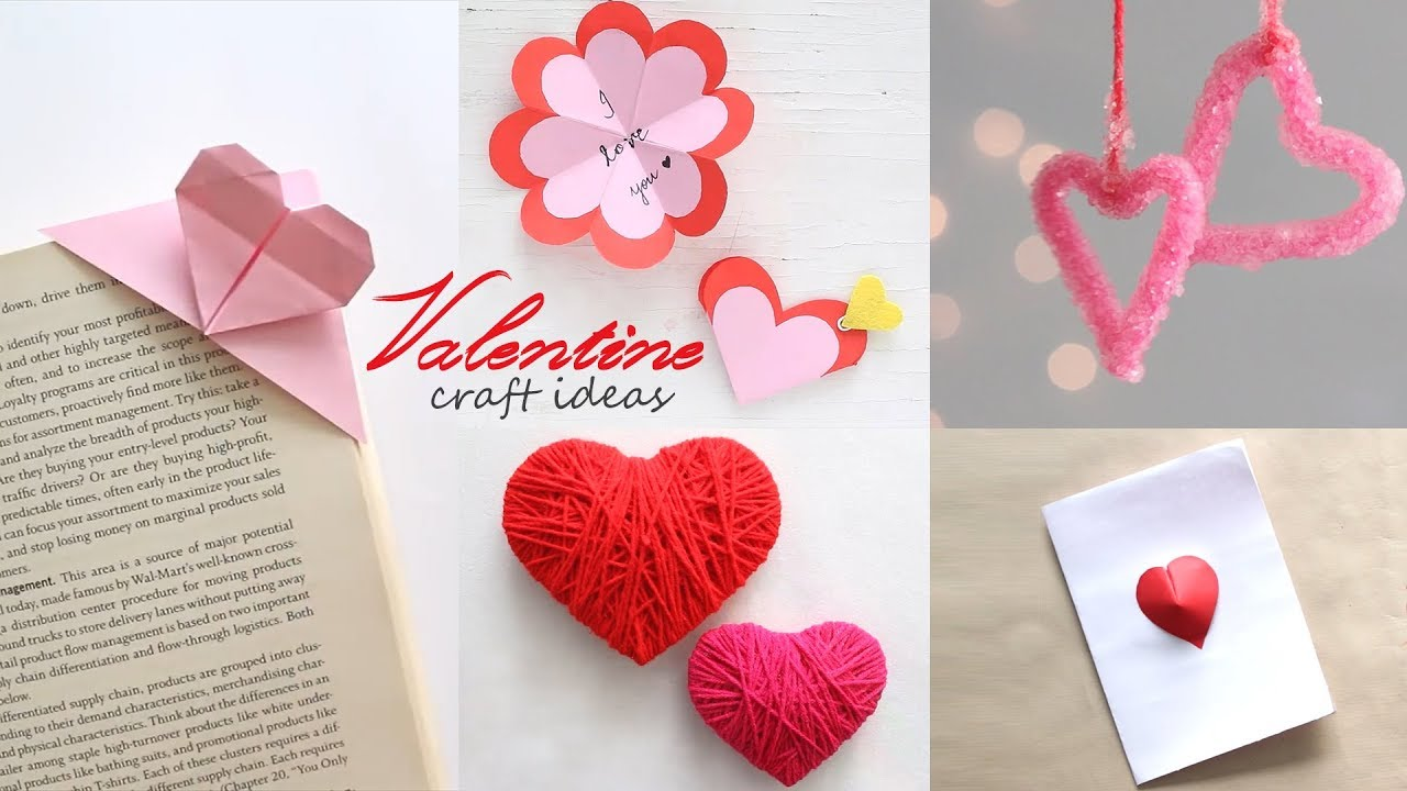 5 Easy Valentine Craft Ideas Diy Activities Handcraft Youtube