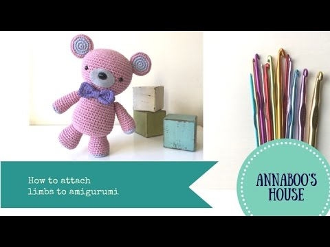 How to attach the parts of the body Amigurumi Bear- ??? ...