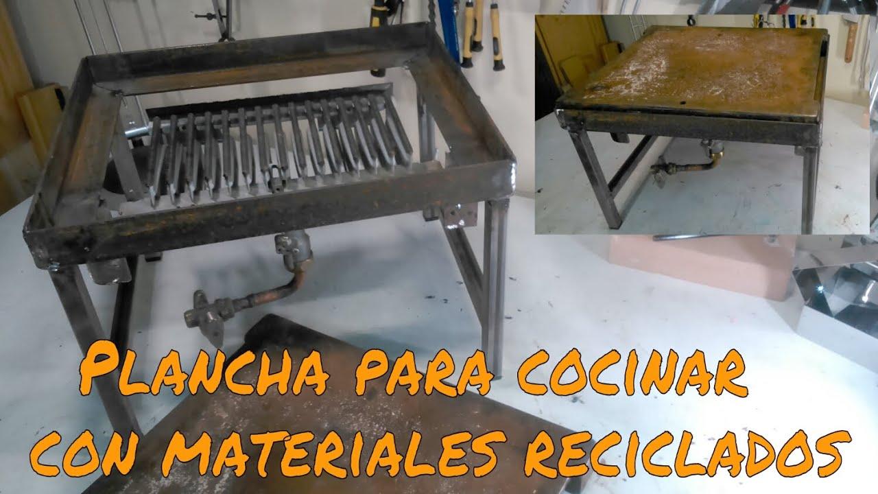 Plancha para cocinar con elementos reciclados youtube for Cocinar en 5 min