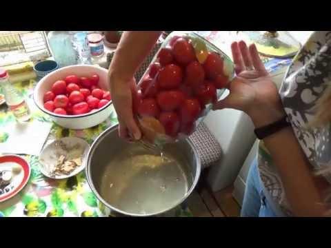 Рецепт самых вкусных маринованных помидор!!!