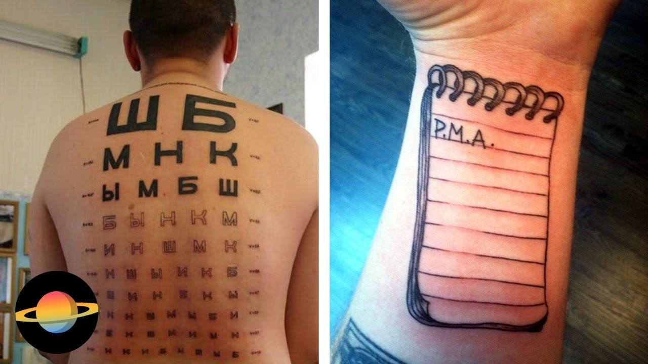 10 genialnych tatuaży o praktycznym zastosowaniu