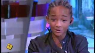 Jaden Smith and his dad rapping