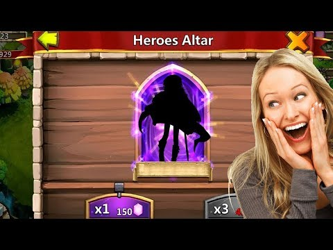 Castle Clash Rolling For New Hero !!!