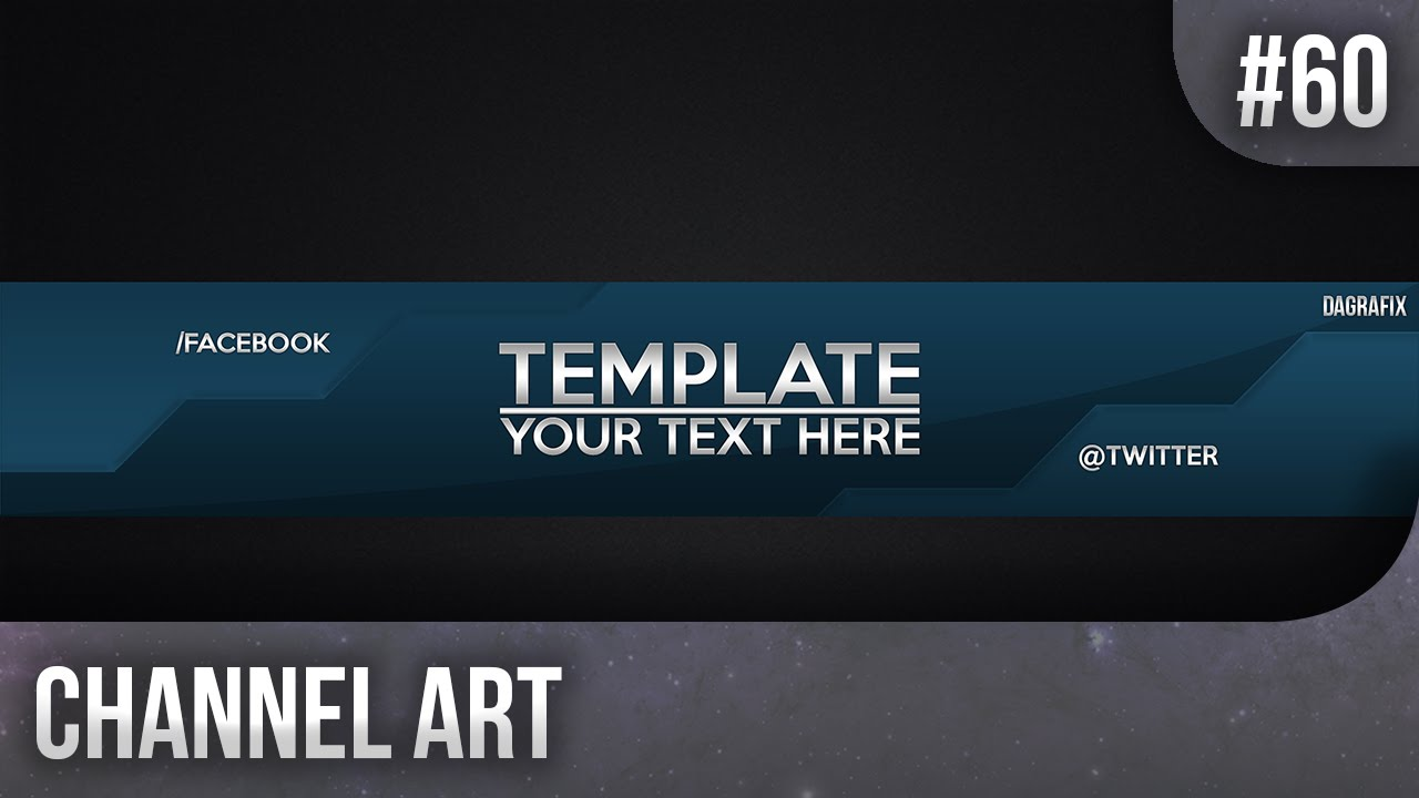 Cool Channel Art Template 60 Free Photoshop Download