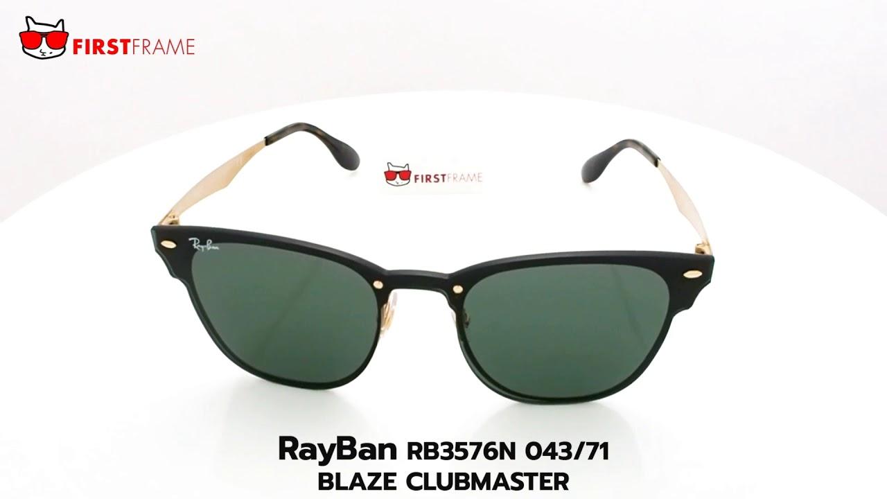 8b5e79b38 RayBan RB3576N 043/71 BLAZE CLUBMASTER - YouTube