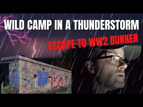 Wild Camp by the Sea in a Thunderstorm | Escape to WW2 Army Pillbox
