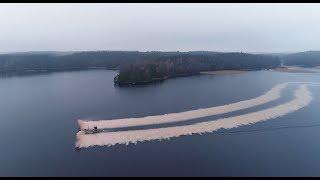 Kalkning av sjö med båt Västra Götalands län