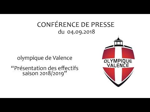 Présentation de l'effectif 2018 2019 de l'Olympique de Valence