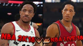Nba 2k18 graphics vs nba live 18 graphics - brand new screenshots!!