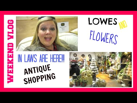 Weekend VLOG   Antique Shopping, Lowes and a bunch of flowers   April 2016