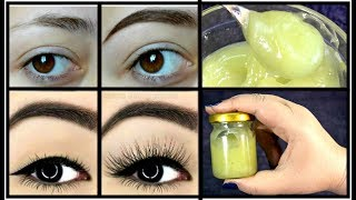 Homemade Serum To Grow Thicker Eyebrows & EyeLashes In 3 Days