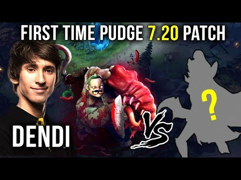 First Time Dendi Playing Pudge on 7.20 vs MOST OP Carry Hero of the Patch - Dota 2