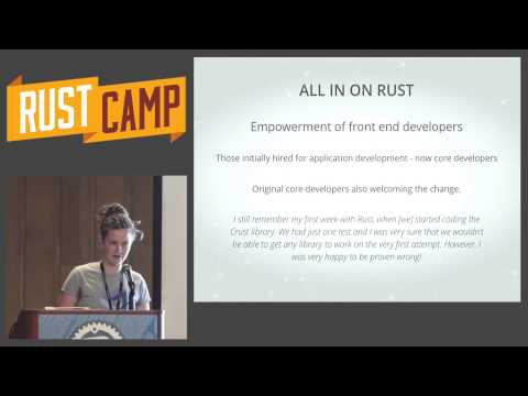 RustCamp 2015  Evolving the Internet Using Rust by Paige Peterson