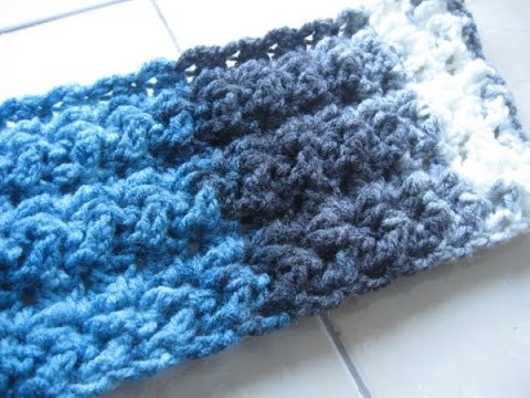 How Do I Crochet : Star Fish Stitch Scarf REVISED - Crochet Tutorial - Great Mens Scarf ...