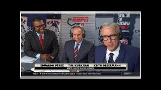 Baseball fans didn't seem to enjoy Keith Olbermann calling Mets-Yankees on ESPN