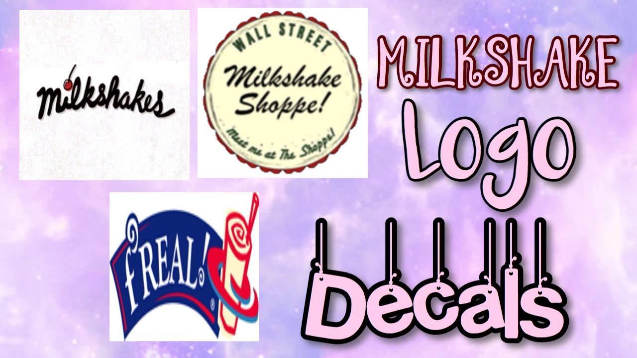 Roblox Bloxburg - Milkshake Logo Decal Id's