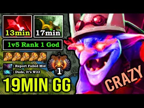 EVEN FOUNTAIN CAN'T HURT Crazy 1v5 Timbersaw First Item Bloodstone 19Min GG IMBA Rank 1 MMR DotA 2