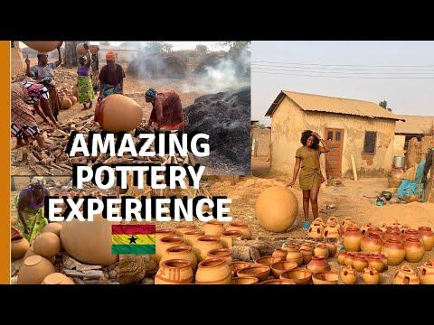 TAMALE GHANA - AFRICAN POTTERY FIRING | HOW GHANA CLAY POTS ARE MADE