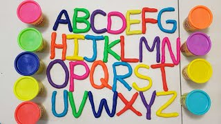 Play ABC and Learn ALPHABETS with Play Doh for kids