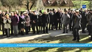 """Skala TV info - aktualno """"Spominska žalna slovesnost pri grobovih 100 talcev v Grabnu pri Stranicah"""""""