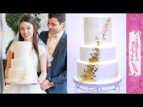 textured-gold-foil-wedding-cake-tutorial