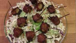 Bacon Wrapped Water Chestnuts With A Kick