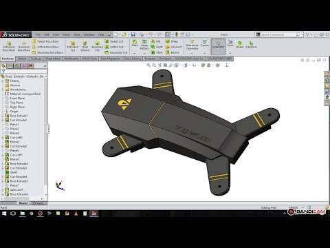 solidworks tutorial # 32 : make design drone [ quadcopter ] part 1