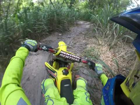 Motocross track through the woods!