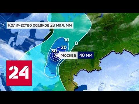 """""""Погода 24"""": возможно, москвичей ждет самый дождливый майский день в истории метеонаблюдений"""