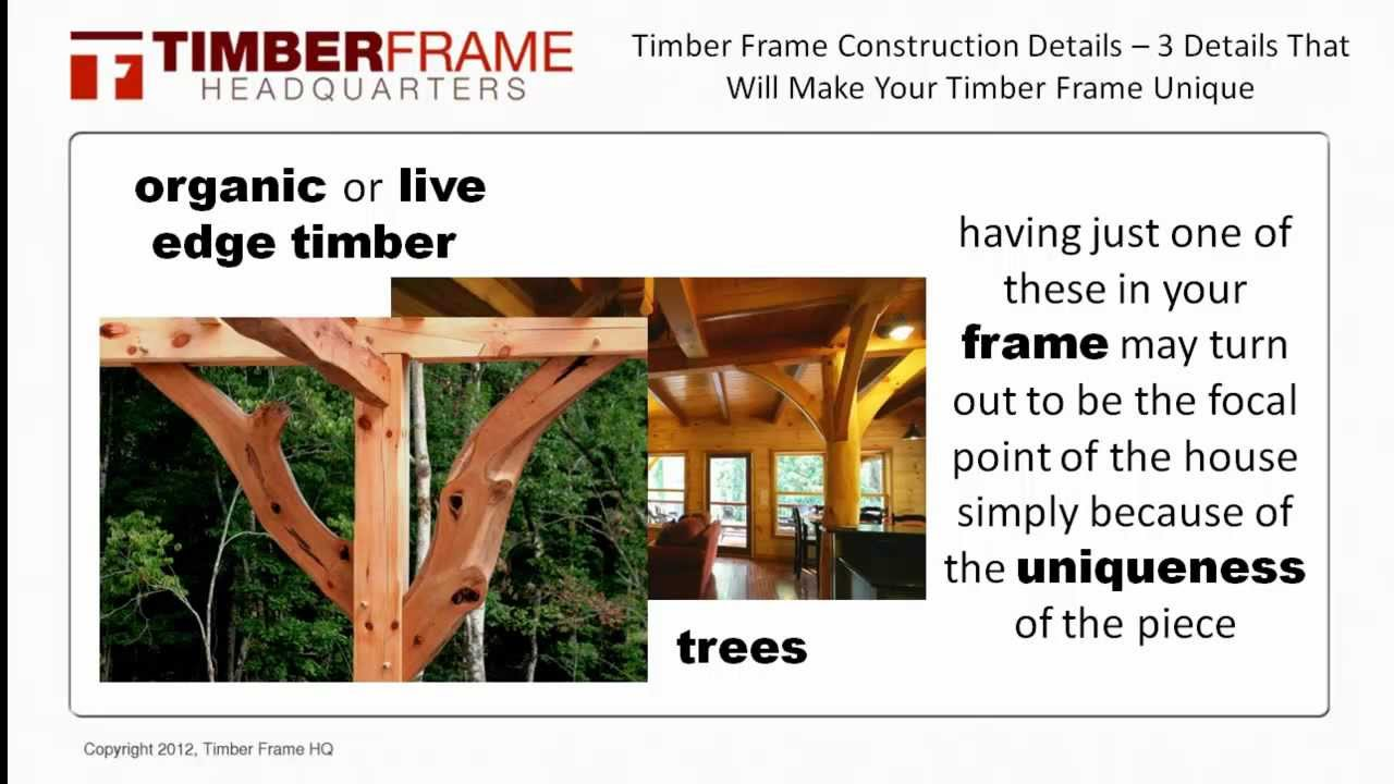 c68cbe053b4 Timber Frame Construction Details - 3 Details That Will Make Your Timber  Frame House More Unique
