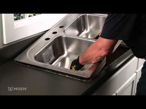 how-to-install-a-stainless-steel-drop-in-sink-|-moen-installation-video