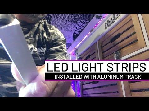 Installing LED LIGHT STRIPS In My Conversion Van | VAN LIFE