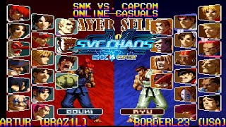 [Fightcade HD] - SvC Chaos: SNK vs. Capcom Online Casuals - ARTUR (BRAZIL) vs.  BorderL23 (USA)