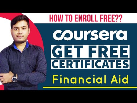 How to Enroll Free for Coursera Courses??| Coursera Financial Aid | Free Certification Course