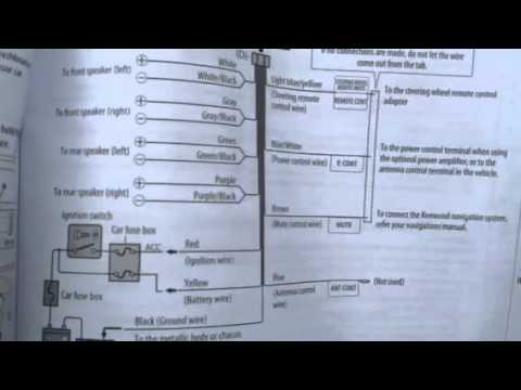 Kenwood car stereo wiring diagram model kdc-bt358u - YouTube