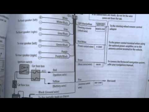 kenwood kdc car stereo wiring diagram mechanical weathering model bt358u youtube