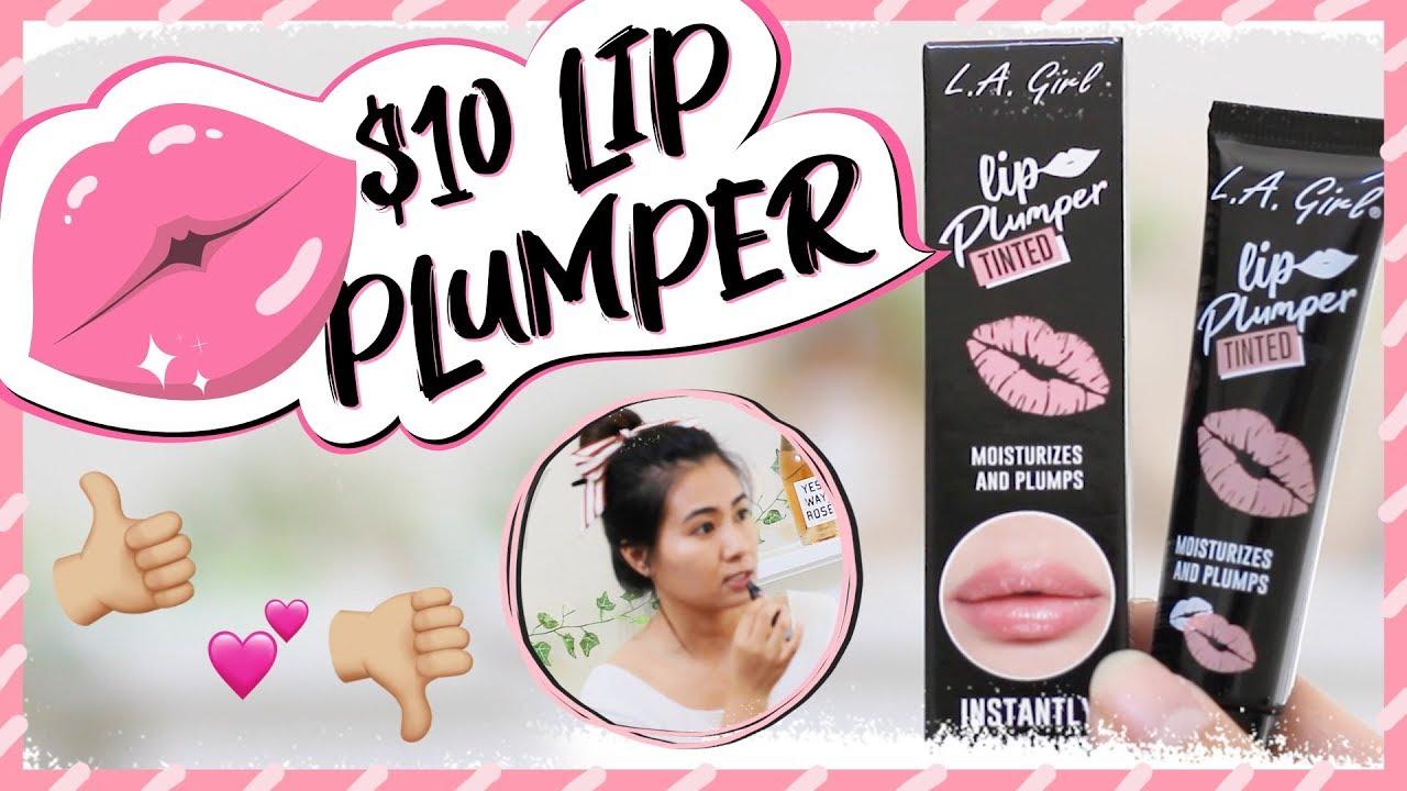 ♡LIP PLUMPER UNDER $10 ft L.A. Girl TINTED LIP PLUMPER♡